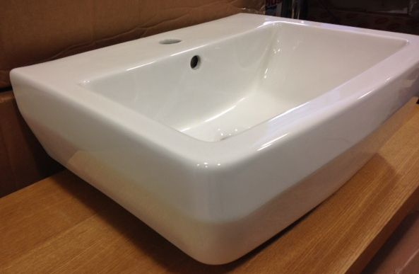 Britton bathrooms curve s30 washbasin 50cm for 50cm deep kitchen units