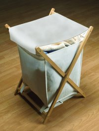 Wooden X Frame Laundry/ Hamper Basket 211.84.054